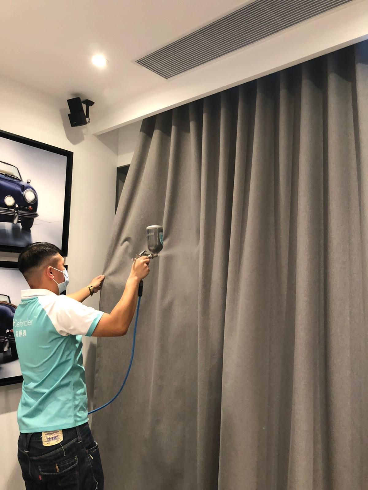 curtain coating formaldehyde removal