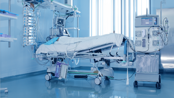 Hospital intensive care unit Coated with titanium dioxide photocatalyst coating to prevent cross infection